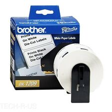 "Brother DK1209 Address Label 1.14"" W x 2.44"" L 1 Roll - 800/Roll Direct Thermal"