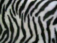 """Noir / Blanc zèbre imprimé animal tissu fourrure à motifs 60 """"Large vendus au mètre"""