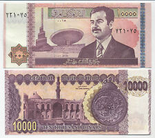 P89 - Saddam Hussein 10,000 Dinar - MINT - Uncirculated Iraq Note