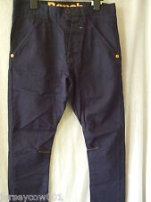 "NEW £49.99 MENS BENCH NAVY BLUE HICKOREE SKINNY CHINOS W28"" L32"""