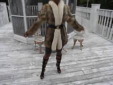 Stroller fox trim & Coyote Fur coat jacket bolero stroller S-M 4-10