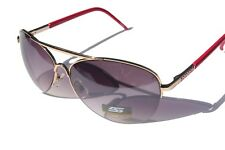 Premium quality Fashion aviator Sunglasses Magenta / gold metal frame black lens
