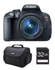 NIB Canon EOS T5i DSLR Camera 18-55mm Lens 32GB Memory card Carrying case Bundle