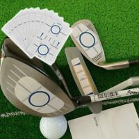 10 Sets Golf Impact Tapes Labels Recorder Kit Tool for Woods Irons and Putter