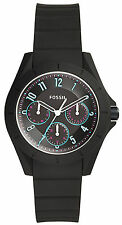 Fossil ES4063 Poptastic Black Dial Black Silicone Strap Men's Watch