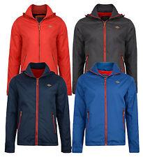 Lee Cooper Men's Hooded Jacket Rookley Casual Fleece Lined Coat Red Grey Blue