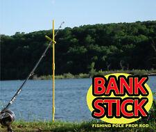 "2 PK Bank Sticks -Adjustable 33"" Fishing Pole Prop Rod Fits Tackle Box-Bankstick"