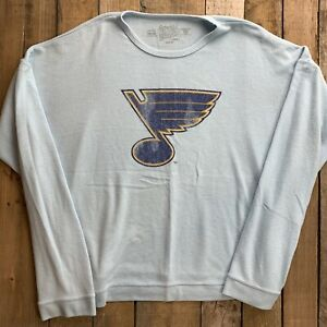 St Louis Blues Hockey Long Sleeve Men's T-Shirt Size L