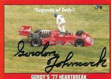 GORDON JOHNCOCK signed  1992 LEGENDS OF INDY #90 card INDY RACING