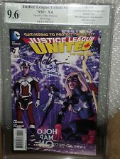 Justice League United #1 1:50 Ha Variant PGX SS 9.6 Signed McKone New 52 CGC NM