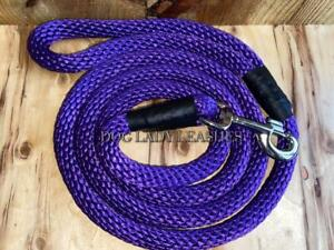 "DOG LEASH/LEAD-ROPE-L/XL-up to 120 lb-PURPLE-5/8"" X 6' NEW  (456)"
