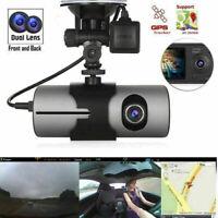 2019 Voiture GPS Dual Lens DVR Caméra HD Dash Cam Vidéo Recorder Night Vision