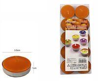Set 10 Pezzi Candele Arancioni Profumate Fragranza Arancia Tealight Lumini dfh