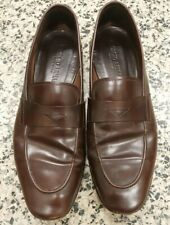 GIORGIO ARMANI Mens Size 6 M Brown Cognac Leather Penny Loafers Italy