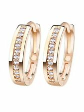 Lucia One Row CZ Hoop Earrings Gold Plated Ginger Lyne Collection