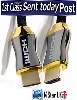 3M PREMIUM HDMI Cable v2.0 High Speed 4K UltraHD Lead + Ethernet HDTV 2160p 3D