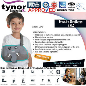 Tynor™ Paediatric Medical Pouch Arm Sling Baggy Fits Child,Toddlers, Kids Unisex