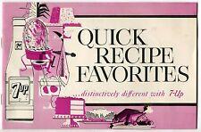 1963 Vintage 7-UP Promotional Recipe Booklet