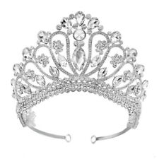 10cm High Large Flower Drip Crytal Wedding Bridal Party Pageant Prom Tiara Crown