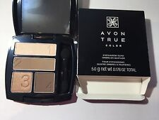 Avon True Color Multi-Finish Eyeshadow Quad - MOCHA LATTE