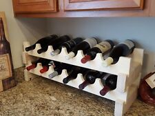 Solid wood MODULAR WINE RACK Hand Made 12 Bottle Expandable