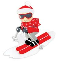 Snow Skier Personalized Christmas Ornament