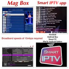 Abbonamento Iptv UK Smart TV, MAG, Android e Bastone di Fuoco
