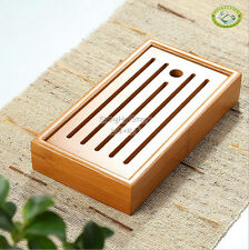 "Chinese Bamboo Gongfu Tea Table Serving Tray 8.9""*4.9"""
