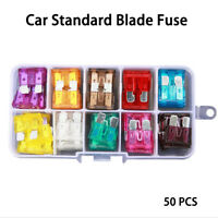 Medium Truck Motorcycle Boat Blade FUSES Kit Car Fuse  Case Assorted Assortment
