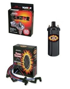 VW Aircooled Pertronix Ignitor 1 Bundle Kit - Black Coil With Black Leads