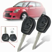 2Pcs 2 Button Remote Key Fob Case Shell +Battery For Suzuki Ignis Alto SX4 Agila