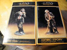 """Emmett Kelly Flambro Figurines """"No Strings Attached"""" """"In The Spotlight"""""""