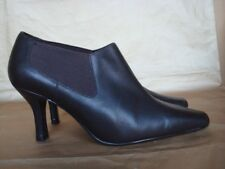 M&S UK 5 1/2 BROWN LEATHER SLIP ON SHOE BOOTS