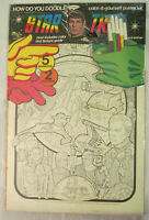 Vintage 1976 Star Trek TOS Adult Coloring Posters (two) Enterprise Collage NIP