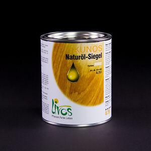 LIVOS KUNOS Naturöl-Siegel 244, 750ml = 39,00 €/Liter; 2,5 l = 31,00 €/Liter