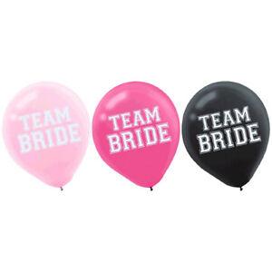 BACHELORETTE PARTY Team Bride LATEX BALLOONS (15) ~ Wedding Bridal Supplies Pink