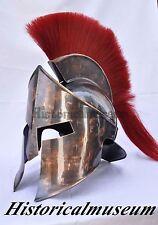 Trojan 300 Spartan Greek Troy Helmet with Armor Cap Plume medieval Costume  KJ60