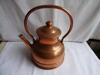Vintage Tapiol Portugal Copper Kettle Tin Lining Swing Handle Height 22 x 15 cm