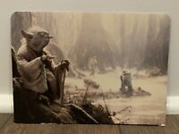 STAR WARS DISPLAY ARENA BACKDROP YODA JAWA C9.5+ ESB KENNER VINTAGE 1981