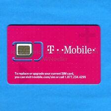 Triple Cut T-Mobile SIM fits Mini(2FF)/Micro(3FF)/Nano(4FF) - SIM only