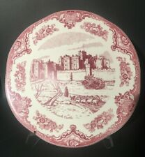 Johnson's Brothers China Old Britain Castles Pink Round Trivet Scalloped Edge