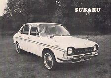 Subaru 1000 FF Saloon 1970 UK Market Foldout Sales Brochure Crayford