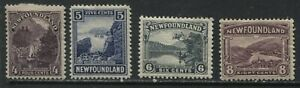 Newfoundland 1923 4 cents to 8 cents mint o.g. hinged
