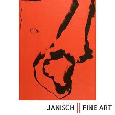 BERNARD AUBERTIN: Lithographie auf rotem Papier, handsigniert, Auflage 100, 1973