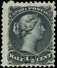 Canada #21 mint F OG NH 1868 Queen Victoria 1/2c black Large Queen Spur variety