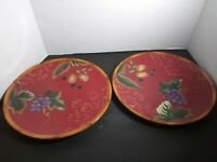 """The Sangria Collection (2) Dinner Plates byTracy Porter  11"""""""