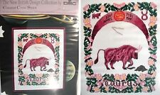 DMC K486 Counted Cross Stitch KIT Zodiac star sign TAURUS 21 x 26 cm 18 ct Aida