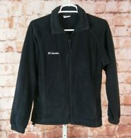 Columbia Zip Front Fleece Jacket Black Size S