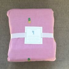 Pottery Barn kids Oxford Embroidered Pineapple duvet cover only Queen pink