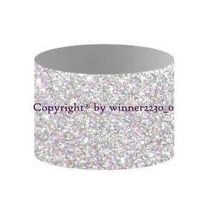 10pcs Sparkling Premium Glitter SILVER Napkin Ring Waterproof Table Decor FLAT